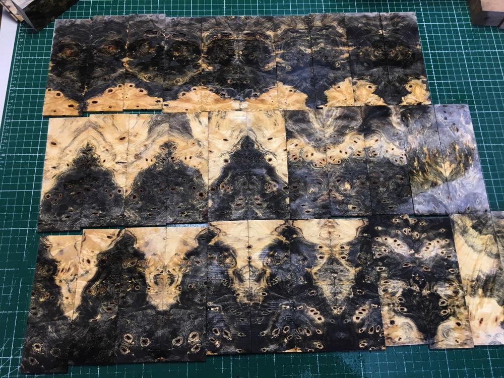 scale material: Buckeye burl stabilized